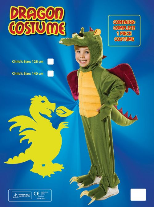 Childs Dragon Costume Welsh Wales Animal St George Fancy Dress Outfit
